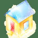 Xmas house icon