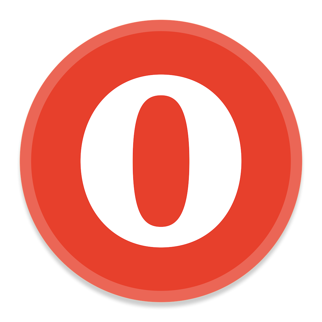 Opera Icon | Button UI App Pack One Iconset | BlackVariant
