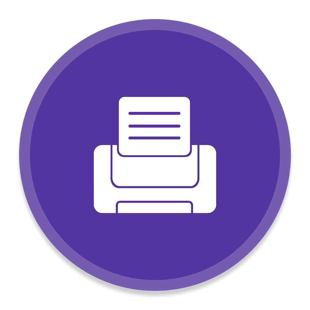 Printer Icon | Button UI App Pack One Iconset | BlackVariant