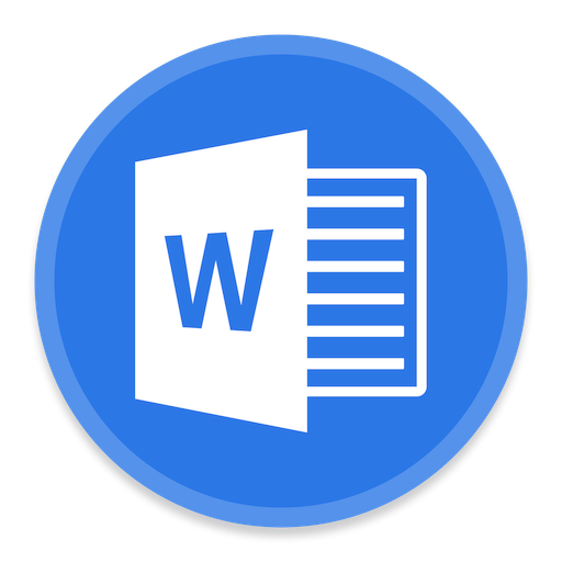 word 2 icon button ui ms office 2016 iconset blackvariant