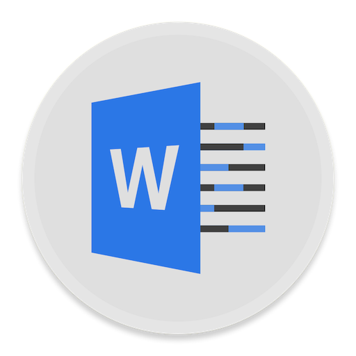 word icon button ui ms office 2016 iconset blackvariant
