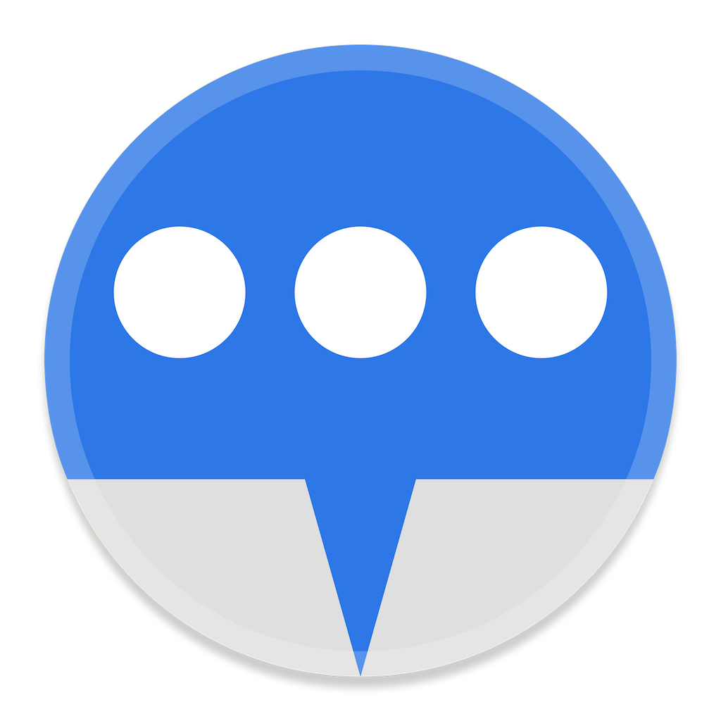 Messages 1 Icon | Button UI System Apps Iconset | BlackVariant