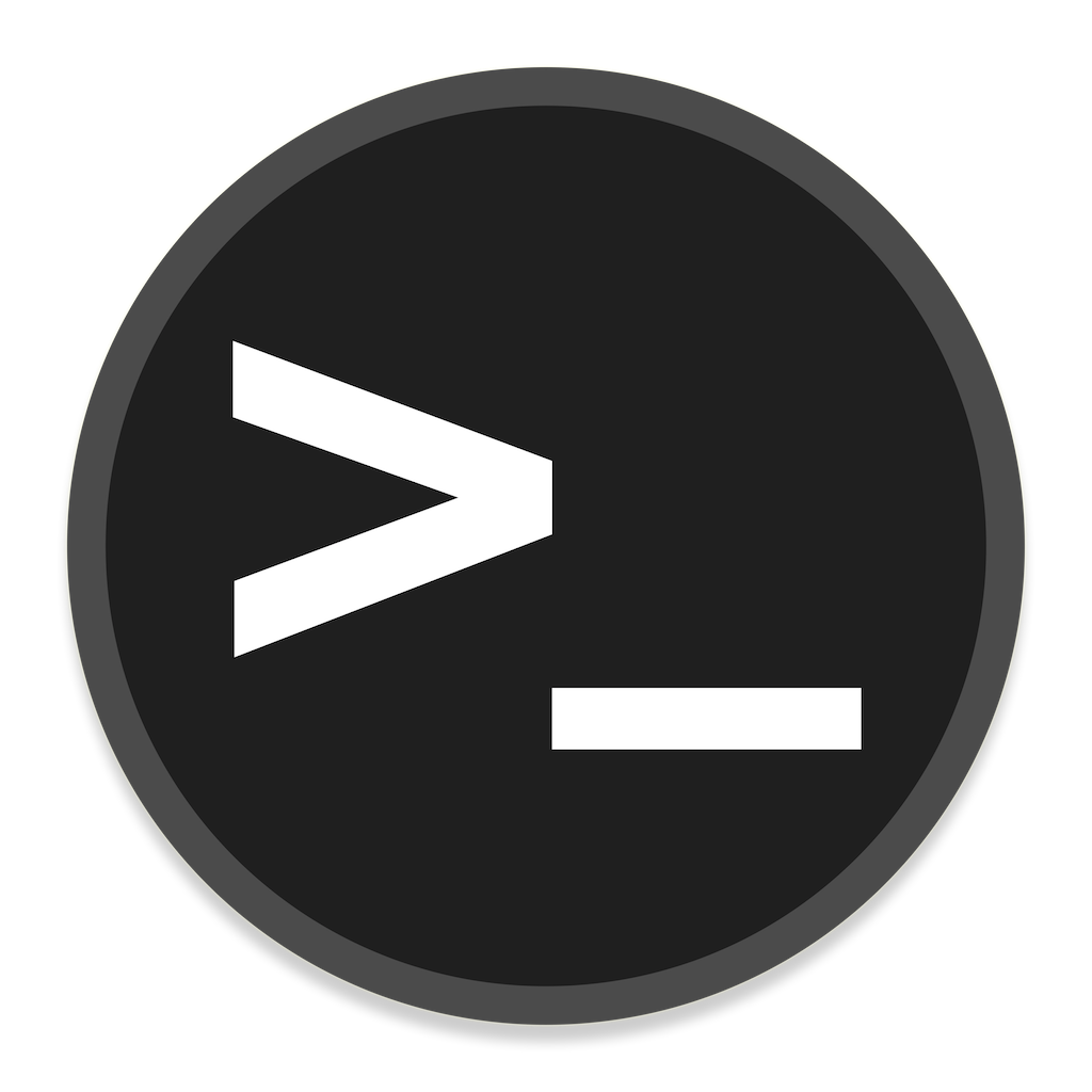 Terminal Icon | Button UI System Apps Iconset | BlackVariant