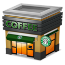 Shop Coffee brown icon