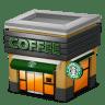 Shop-Coffee-brown icon