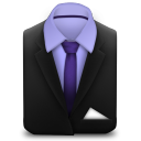 Manager Suit Purple icon