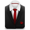 Manager Suit Red Tie Rose icon