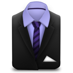 Manager Suit Purple Stripes icon