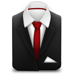 Manager Suit Red Tie icon