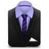 Manager-Suit-Purple-Stripes icon
