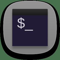 Terminal black icon
