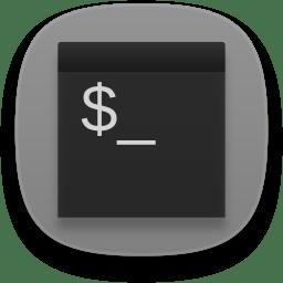 Terminal gray icon