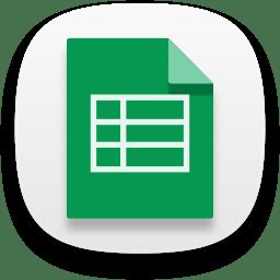 Web google sheets icon