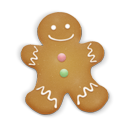 christmas cookie man icon