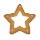 christmas cookie star icon