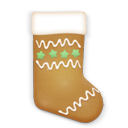 christmas cookie stockings icon