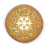 Christmas cookie round icon