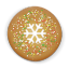 Christmas-cookie-round icon