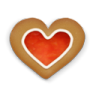 Christmas-cookie-heart icon