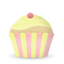 cupcake cake vanilla icon