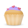 Cupcake-cake-hearts icon