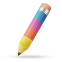 Pencil color icon