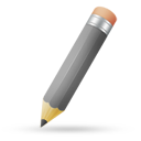 Pencil grey icon