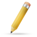 Pencil yellow icon
