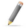 Pencil-grey icon