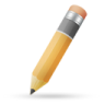 Pencil-orange icon