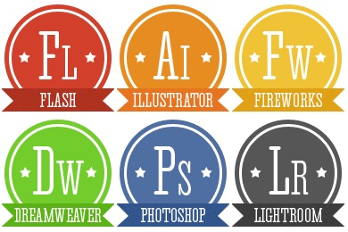 Retro Adobe Icons