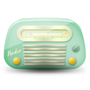 Vintage radio 02 green dark icon