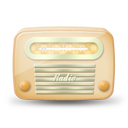 Vintage radio 04 yellow icon