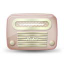 Vintage radio 06 red icon