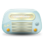 Vintage-radio-01-blue icon
