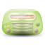 Vintage-radio-03-green icon