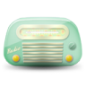 Vintage-radio-02-green-dark icon