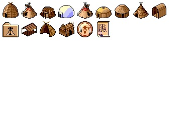 Native American Houses Icons