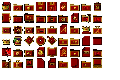 Royal Red System Icons