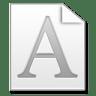 Mimetypes-Fonts icon