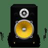 Speaker-Black-Plastic-plus-Yellow-Cone icon