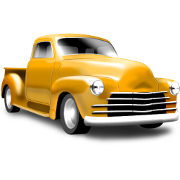 Yellow pickup icon