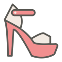 Peep toe pump icon