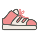 Wedge sneaker icon