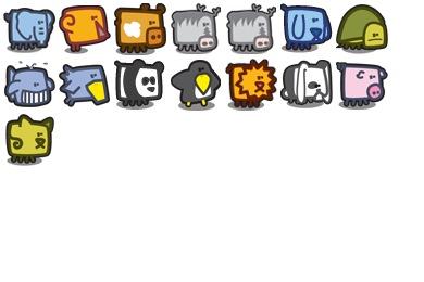 Zootetragonoides Icons