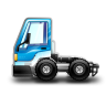 City-Truck-blue icon