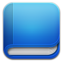 book blue icon