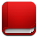 Book red icon