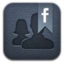 Friendcaster leather icon
