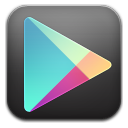 Google play black icon